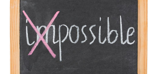 """""""Possible"""" caption on chalk board isolated on white"""