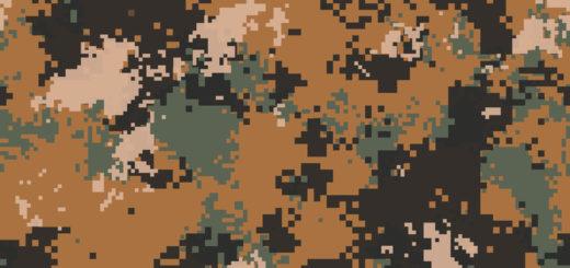Desert Marpat Digital Camouflage. Seamless Tileable Texture.